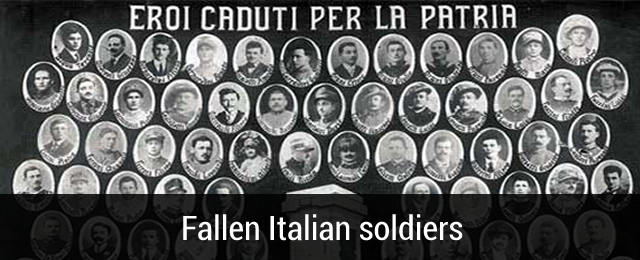 Fallen Italian soldiers in the First and Second World War