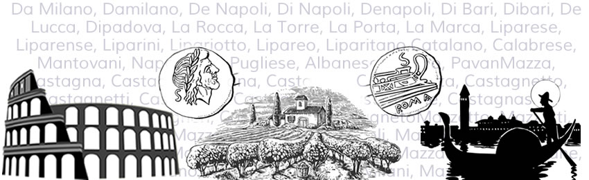 A great variety of Italian surnames